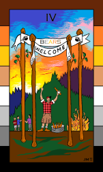 Four of Wands - Bear Edition